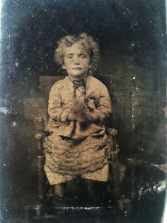 Poor little girl with doll tintype | Flickr - Photo Sharing!