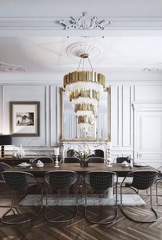 An interior design project always needs a luxurious chandelier. Discover more luxurious lighting design details at luxxu.net  #interiordesignideas #luxury #interiordesign #lighting #chandelier #homedecor