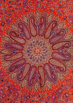 Paisley Mandala. Could not trace the designer