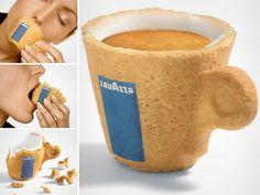 Lavazza edible coffee cup