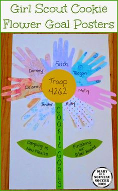 Make Girl Scout Cookie Goal Flower Poster