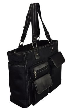 """Amazon.com: Ultimate Work Tote, Business Women's Laptop Tote Bag With Padded Removable Compartment For Computer Up To 14.5"""" - Black: Computers & Accessories"""