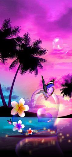 Wallpaper Iphone Neon, Beach Wallpaper, Butterfly Wallpaper, Cellphone Wallpaper, Beautiful Nature Wallpaper, Beautiful Sunset, Beautiful Landscapes, Beautiful Butterflies, Beautiful Birds