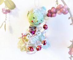 Santa's Helper Elf Ornament // Handmade by BloomingGoddess on Etsy, $26.99