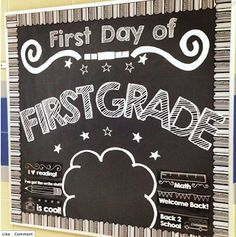 Simply Kinder: First Day Chalboard Bulletin Board Set - How It Works