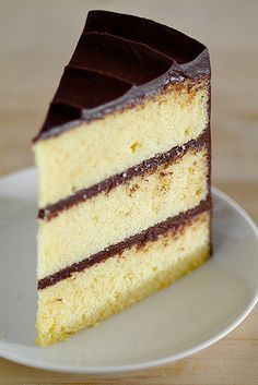 Best Yellow Layer Cake with chocolate sour cream frosting