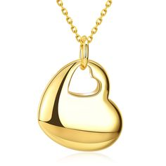 Real Gold Plated Heart With Heart Hole – Quality Lake