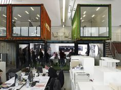 Офис с контейнерами, Женева - Интерьеры объекты - Дизайн и архитектура растут здесь - Артишок