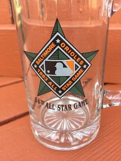 1993 MLB 64th All Star Game Beer Mug Baltimore Orioles Glass Tankard  | eBay