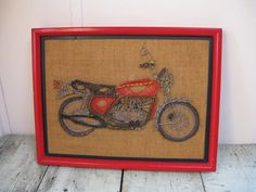 string art motorcycle wall decor fathers day by rivertownvintage, $34.95
