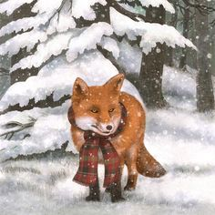 Mercury Row 'Winter Fox' by Terry Fan Graphic Art on Wrapped Canvas Size: Illustrations, Illustration Art, Art Fox, Fox Crafts, Terry Fan, Fox Girl, Art Graphique, Woodland Creatures, Graphic Design Inspiration