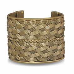Sterling Silver 2 Inch Woven Brass Cuff Sterling Silver Collection. $26.24. Save 25% Off!