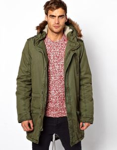 192e8d1a449 Solid Parka Jacket  222.48 Green Parka Coat