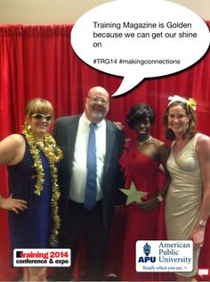 Training Magazine is Golden because we can get our shine on #TRG14 #makingconnections