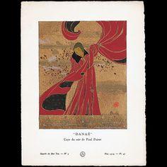 Gazette du Bon Ton - Danaé, cape du soir de Paul Poiret, planche de Charles Martin (n°5, 1914)