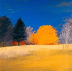 Irma Cerese - Sheep Pasture/October #7. Acrylic on Canvas 16x16