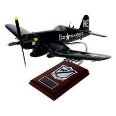 Daron Worldwide F4U-4 Black Sheep Squadron USMC Model Airplane - AF4U4MTS