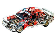 1987-93 BMW M3 DTM (E30) - Illustrated by Bruno Betti