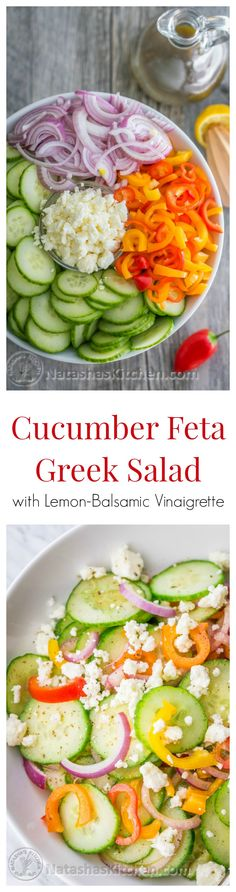 Cucumber Salad Recipe with Feta