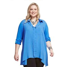 PRE-ORDER - Knit & Woven Shirt (SKY) $59.95 http://www.curvyclothing.com.au/index.php?route=product/product&path=95_104&product_id=6849&limit=75