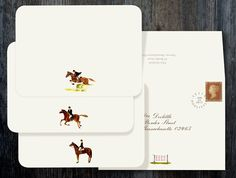 Themed Equestrian Note Cards by Felix Doolittle