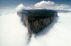 Mount Roraima in the clouds