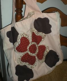 reversible fabric tote bag by elainenthesun on Etsy, $15.00