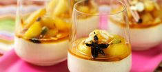 Panna cotta with spiced apple compote Fun Desserts, Dessert Recipes, Finnish Recipes, Food N, I Foods, Food Inspiration, Panna Cotta, Food Photography, Deserts