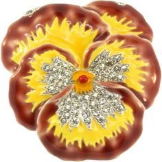 Here is a Wonderful vividly enameled Pansy Flower Figural Brooch/Pin designed and patented by Alfred Philippe for TRIFARI in 1940 Matching Necklace
