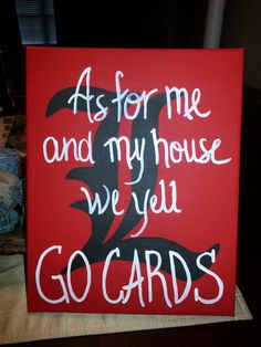 UofL 8x10 Canvas  University of Louisville by burlapandbuttons1, $20.00
