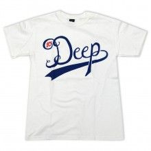 10 Deep Tee Shirt in White Red & Blue