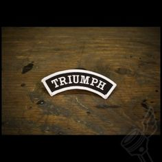 Small Curved Triumph Patch