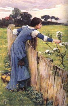"""""""The Flower Picker"""" by John William Waterhouse -- 1900"""