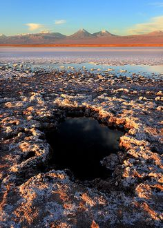 Chile's #Atacama Desert is an adventure playground of geysers, moon valleys and salt lakes where at night the clear skies are littered with thousands of stars.