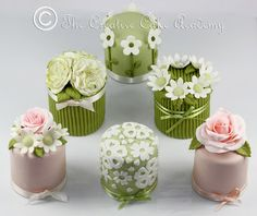 The Creative Cake Academy: THE CREATIVE CAKE ACADEMY - MINI CAKES - THE FLOWER COLLECTION