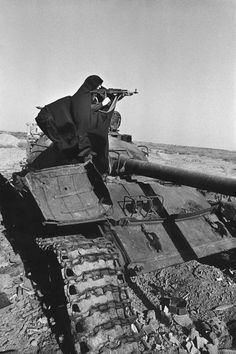 Armed sister, Abadan, Iran, February 1983.