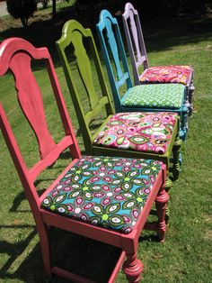 Refinished Antique Chairs...I love making old things new!