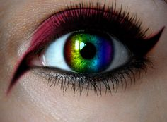 Where can I buy rainbow contact lenses? Which brand is the best? - Where can I buy rainbow contact lenses? Which brand is the best? Cool Contacts, Best Colored Contacts, Prescription Colored Contacts, Gorgeous Eyes, Pretty Eyes, Cool Eyes, Rainbow Eye Makeup, Rainbow Eyes, Makeup