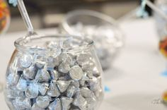 Cinderella party Candy buffet, candy bar for parties, candy bar for wedding-silver kisses