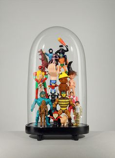 Recycled toys under a glass dome by Lucas Mongiello #glassdome #cupola #cloche - Carefully selected by GORGONIA www.gorgonia.it
