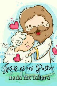 Lord is my shepherd Art Print by hideer Jesus Cartoon, Bible Stories For Kids, Doodles, Lord Is My Shepherd, Bible Crafts, God Loves Me, Kirchen, Gods Love, Jesus Christ