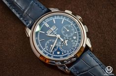 Monochrome Monday: Reviewing the Patek Philippe 5270 Perpetual Calendar Chronograph Blue | WatchTime - USA's No.1 Watch Magazine