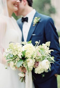 Loose Bouquet with Hydrangeas, Roses, and Greenery | Brides.com