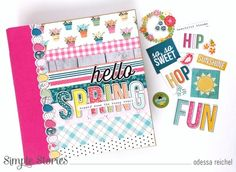 Hop Into Spring By Odessa Reichel! Hip Hop Hooray, Bold Colors, Colours, Color Fly, Spring Photos, Journal Cards, Album Covers, Tatting, Embellishments