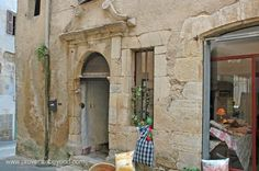 Ancient doorway in Fayence, Provence