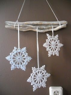 Van 3D printer Crochet Snowflake Pattern, Crochet Stars, Christmas Crochet Patterns, Holiday Crochet, Crochet Snowflakes, Christmas Snowflakes, Christmas Knitting, Crochet Motif, Crochet Doilies