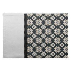 Beautiful Black & White Abstract Pattern Place Mat