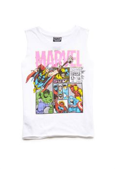 Marvel Graphic Muscle Tank (Kids) #F21Girls