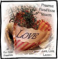 Old Road Primitives: ***FREE*** ~Primitive FarmHouse Hearts~ Tutorial from ORP...