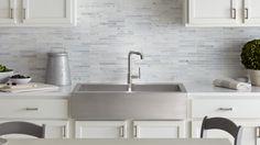 Vault™ Apron Front stainless steel kitchen sink @ Kohler